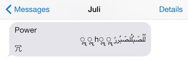 Bug im iOS SMS System