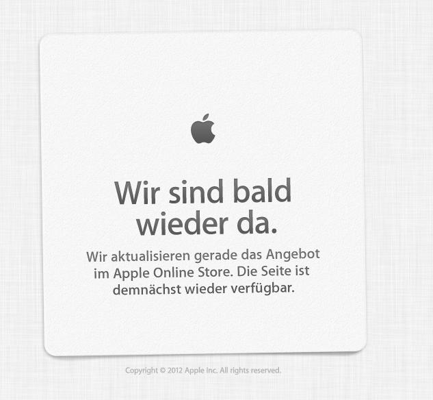 Apple Online Store – Wir sind bald wieder da. [Updated]