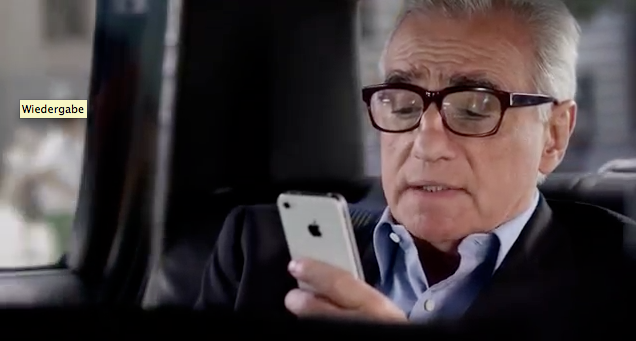 Siri Werbung mit dem Regisseur Martin Scorsese