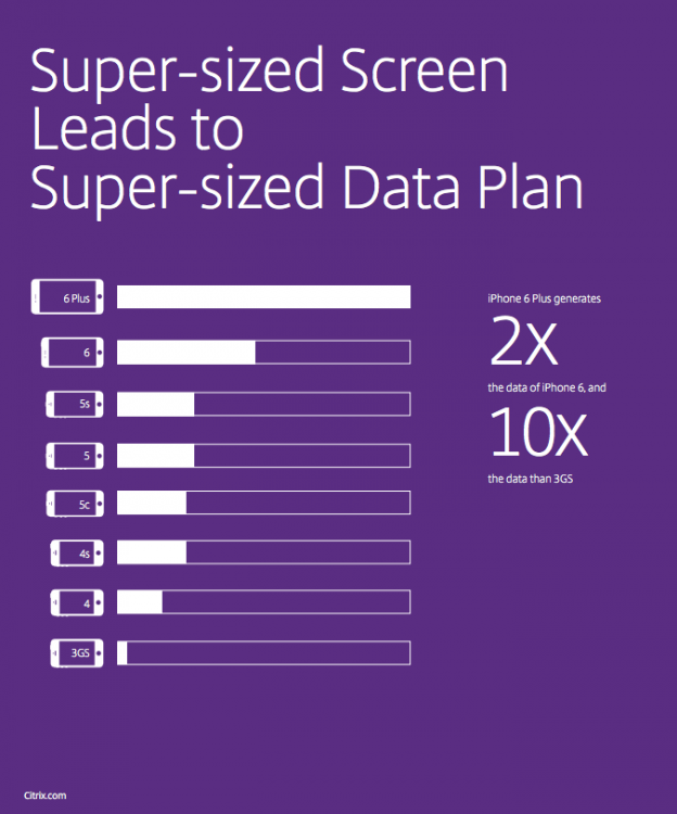 Citrix Screen Size va. Data Plan