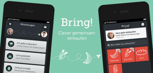 Einkaufsliste App Bring! 2.0