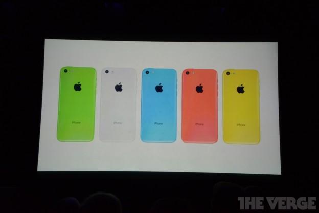 Die Farben vom iPhone 5S