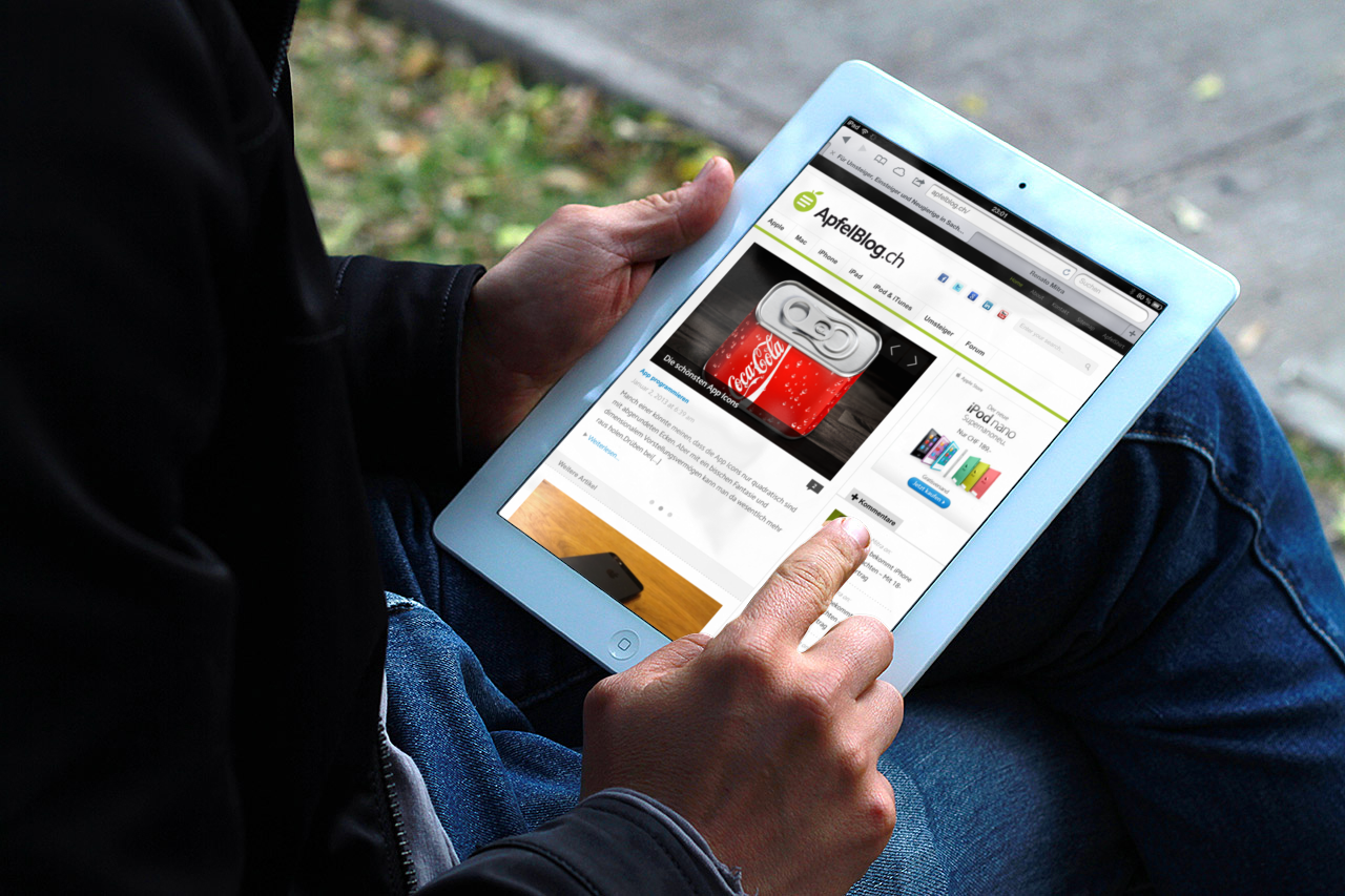 ApfelBlog.ch iPad Place it