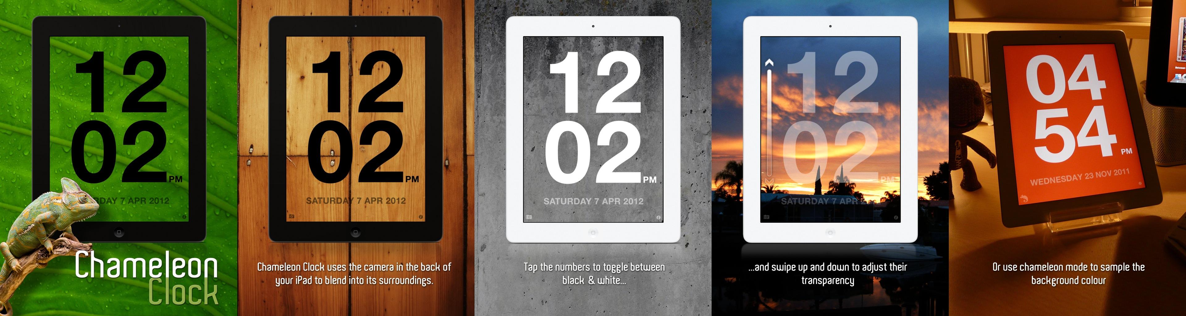 iOS App Perle: Chameleon Clock