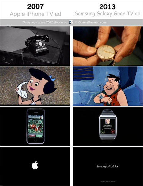 iPhone vs. Galaxy Gear