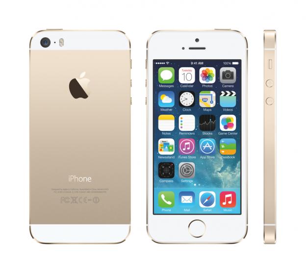 iPhone 5S Gold mit iOS7