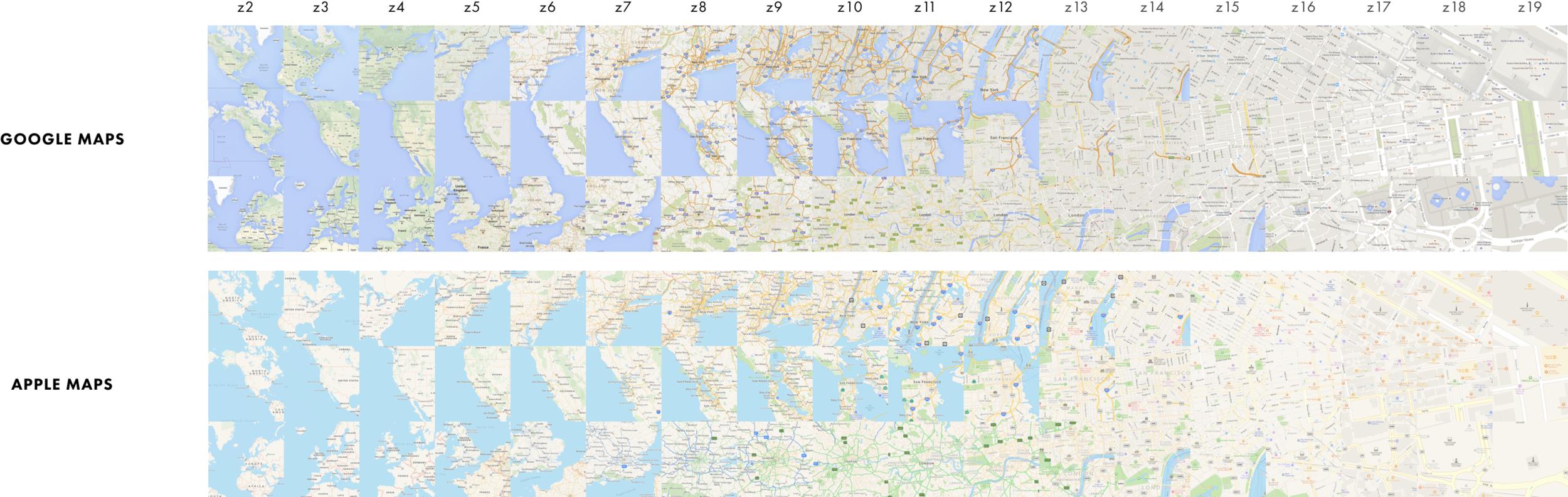 Apple Karten vs. Google Karten