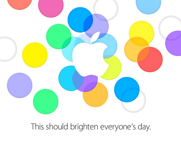 This should brighten everyone's day. Apple Media-Event am 10. September 2013.