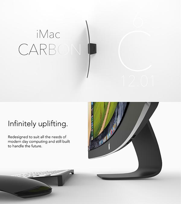 iMac Carbon – Hübsche Designstudie.