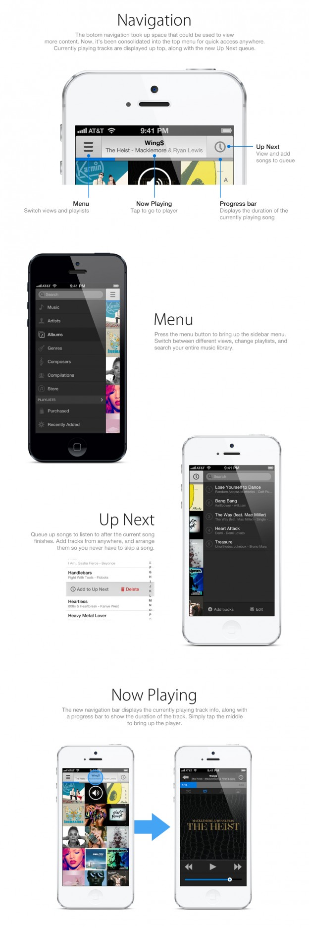 Music App Navigation