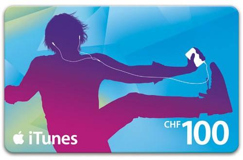 20% Rabatt auf CHF 100.- iTunes Karten.
