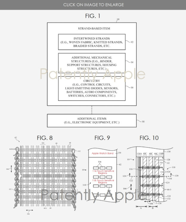 Apple Reveals a Future Apple Watch Band using Smart Fabric with Touch Sensitivity Controls Built-In