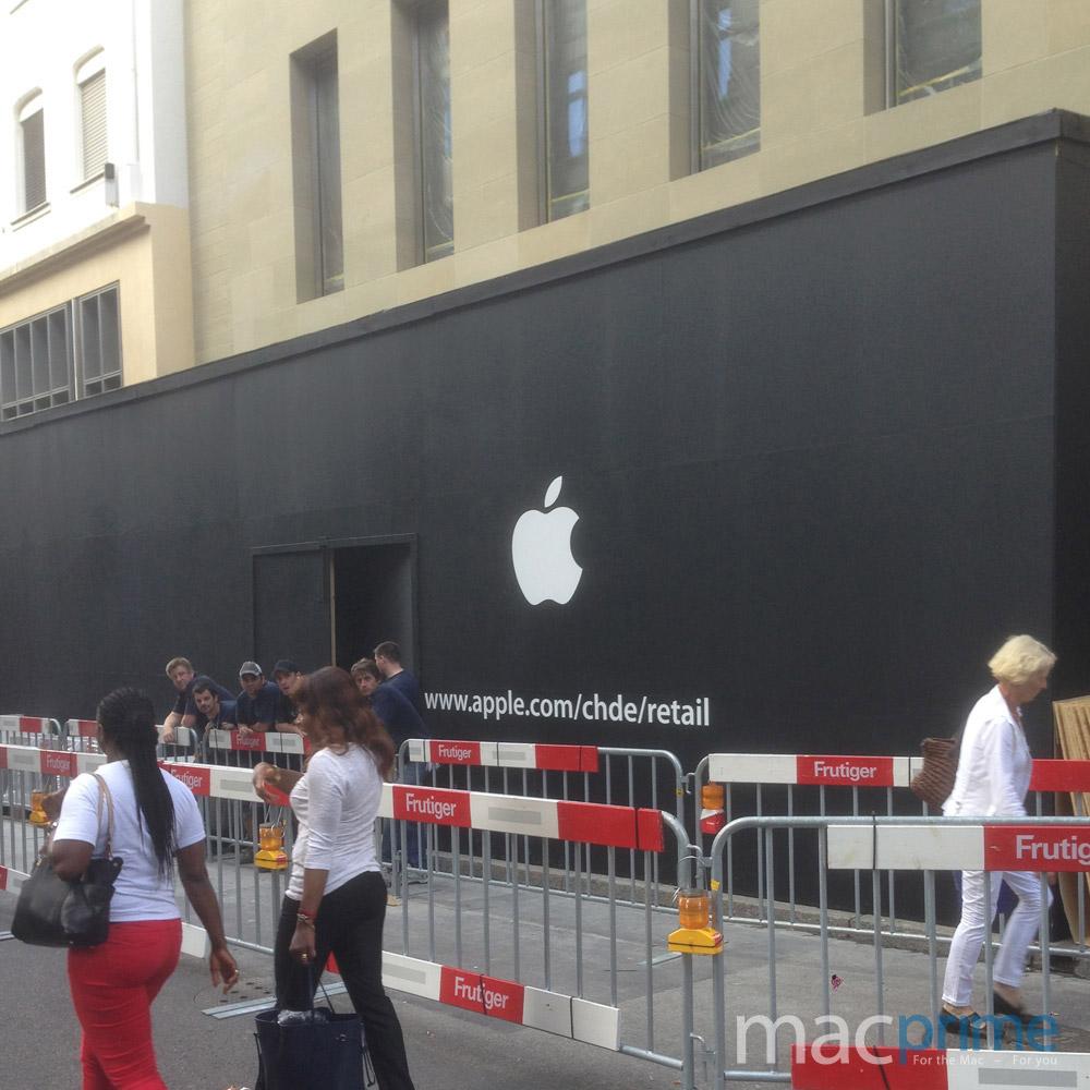 Apple Store in Basel eröffnet am Samstag 12.7.2014 um 10 Uhr.