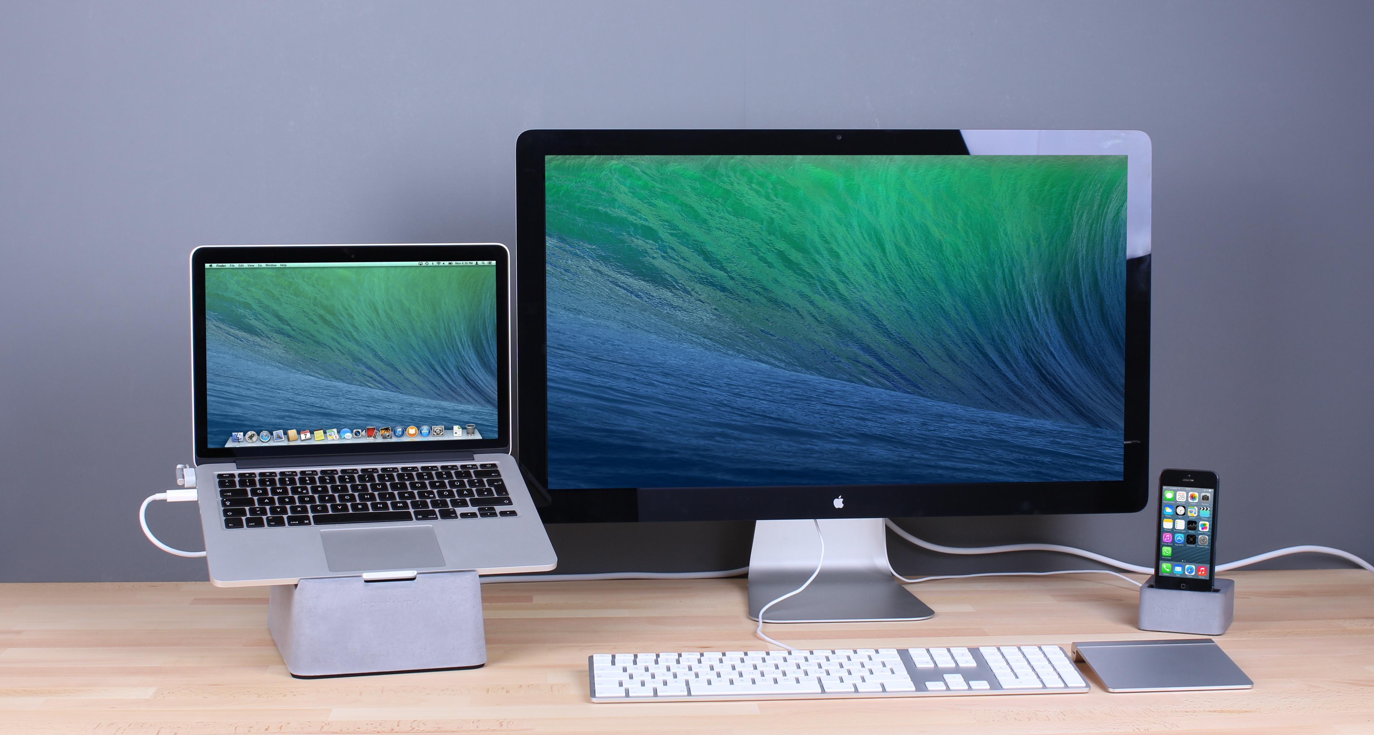 Betonklotz für das MacBook Pro und MacBook Air.