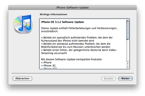 Update iPhone 3.1.2
