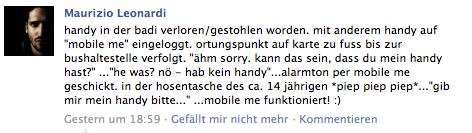 Facebook - Mein iPhone suchen