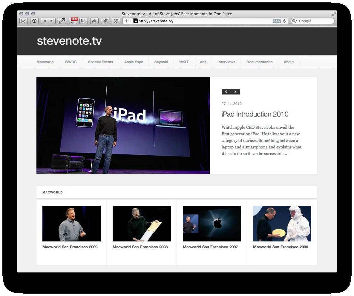 Alle Videos von Steve Jobs an einem Platz