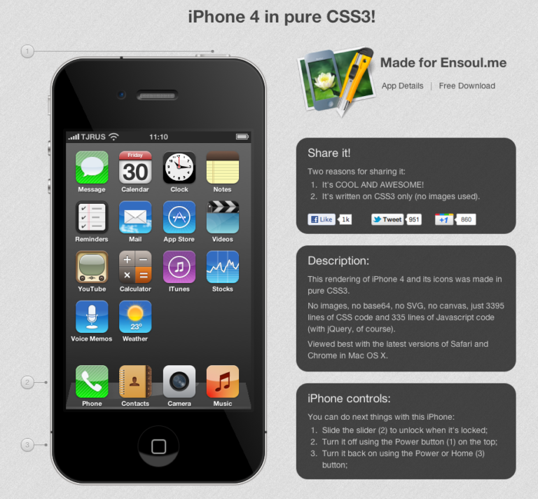 iPhone 4 in CSS