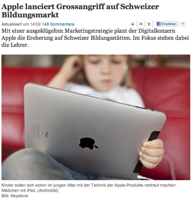 Tages-Anzeiger gegen Apple