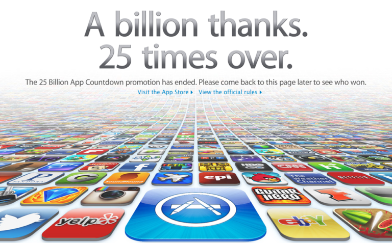 25 Milliarden Downloads im App Store