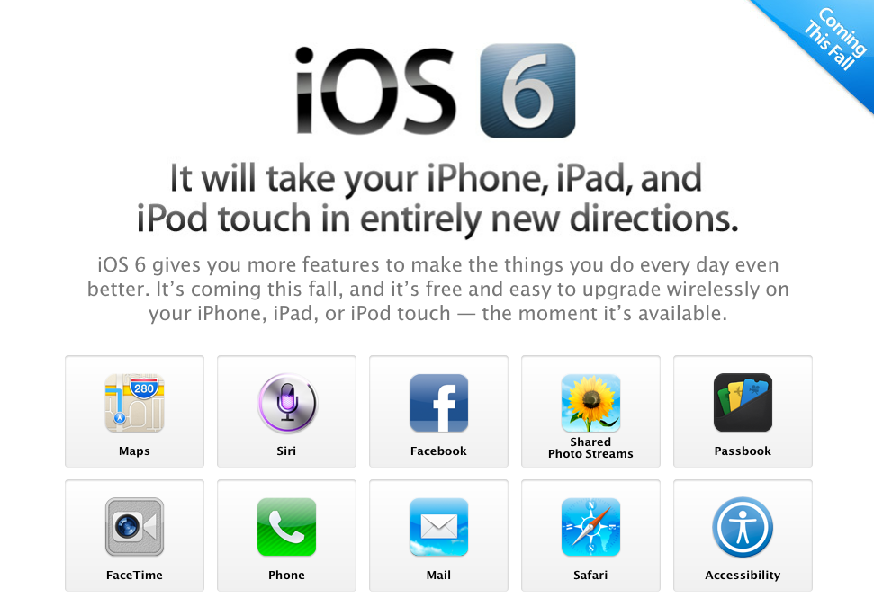 Vorschau auf iOS 6