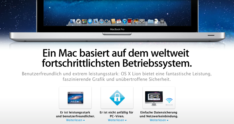 Apple fühlt sich nicht mehr so sicher vor Viren