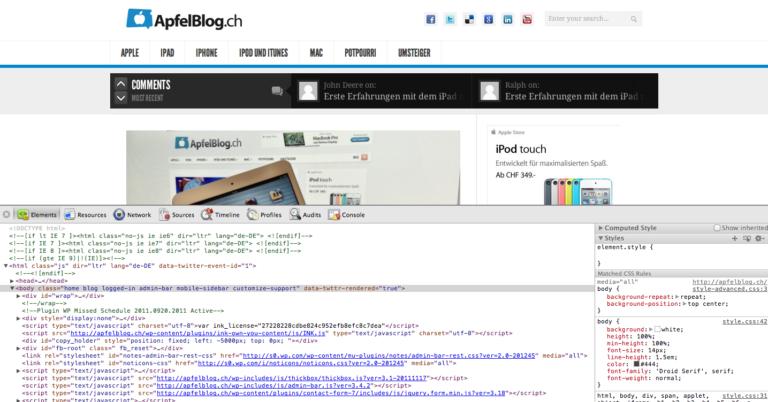 Neues ApfelBlog.ch Design