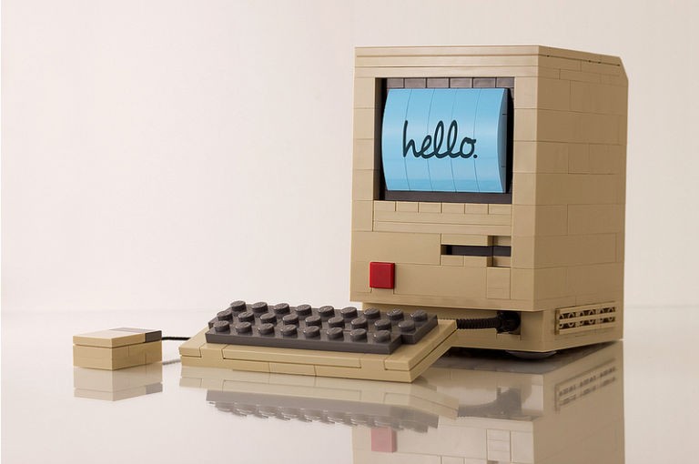 Hello Apple Macintosh by Chris McVeigh