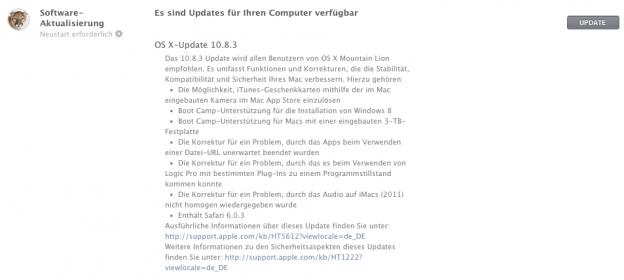 OS X Update 10.8.3