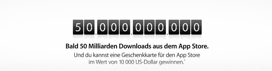 50 Milliarden Downloads im App Store