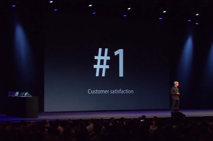 iPhone punktet mit hoher Kundenzufrieden