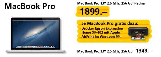 Kostenloser Drucker zum MacBook Pro