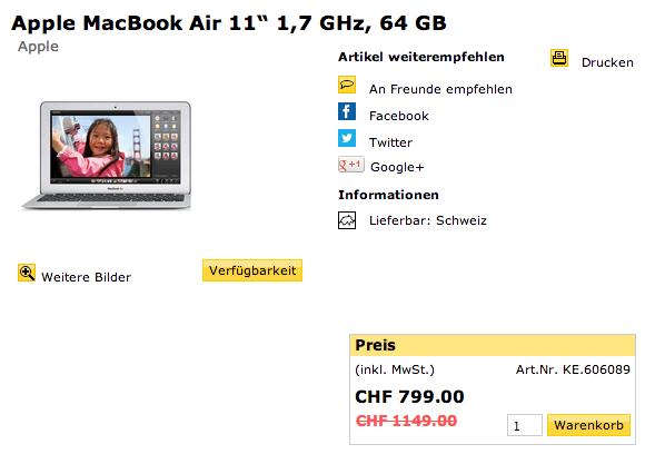MacBook Air 30% günstiger
