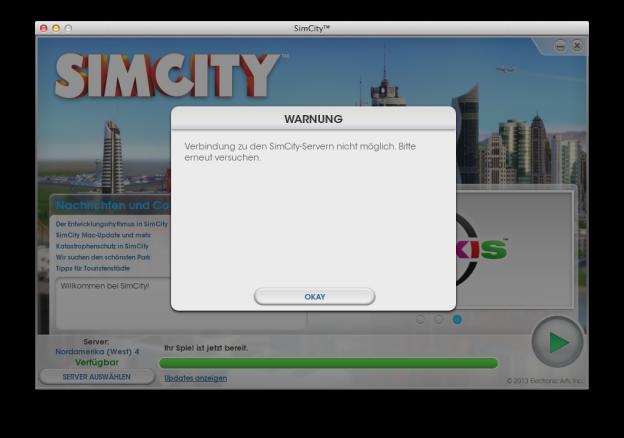 SIMCITY - Probleme auf dem Mac