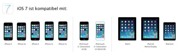 iOS 7 Kompatibilität
