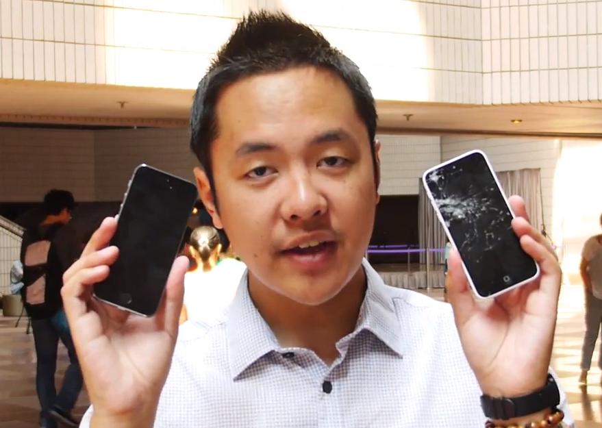 iPhone 5S und iPhone 5C im Fall-Test