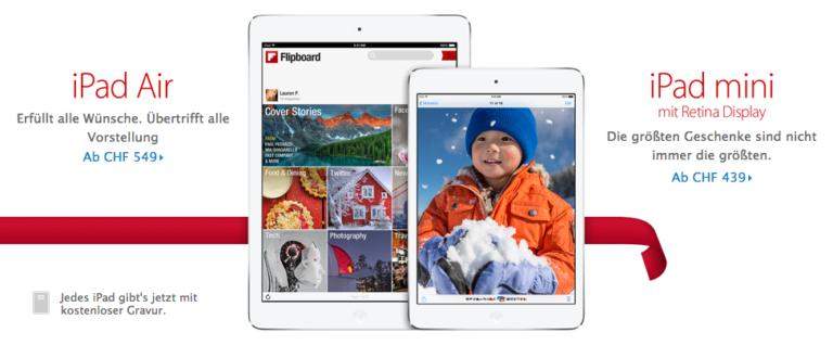 iPad Air und iPad mini Retina Display