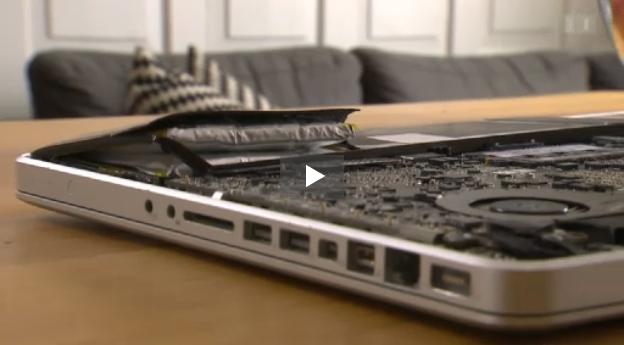 Geplatzter MacBook Akkus
