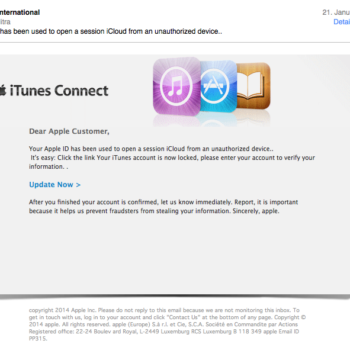 iCloud Phishing Mail