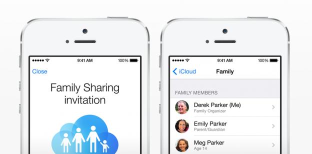 Familienfreigabe - Family Sharing mit iTunes Inhalten.