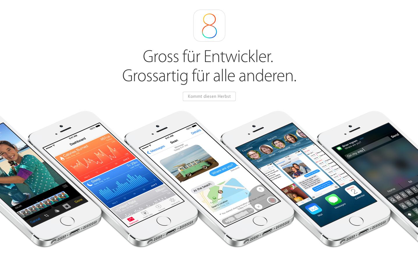 Heute: iOS 8.