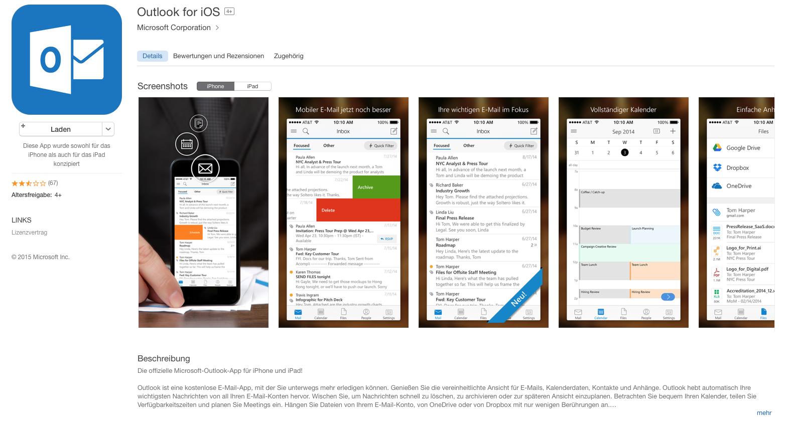 Outlook für iOS ist vielleicht hübsch, aber gefährlich!