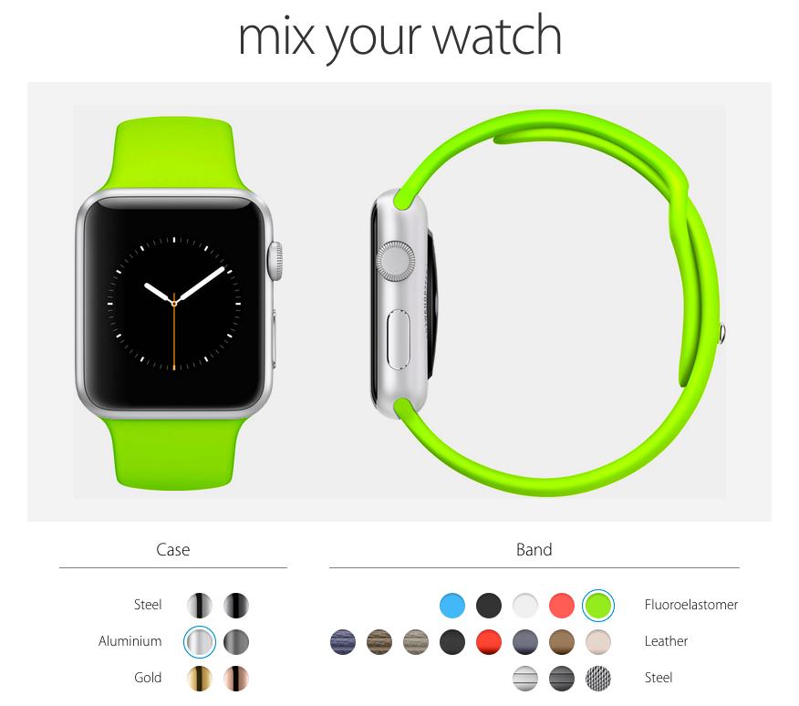 Stell dir deine Apple Watch zusammen.