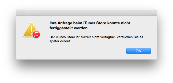 Apple hat Probleme mit iTunes Store, Mac App Store und App Store. [Updated]
