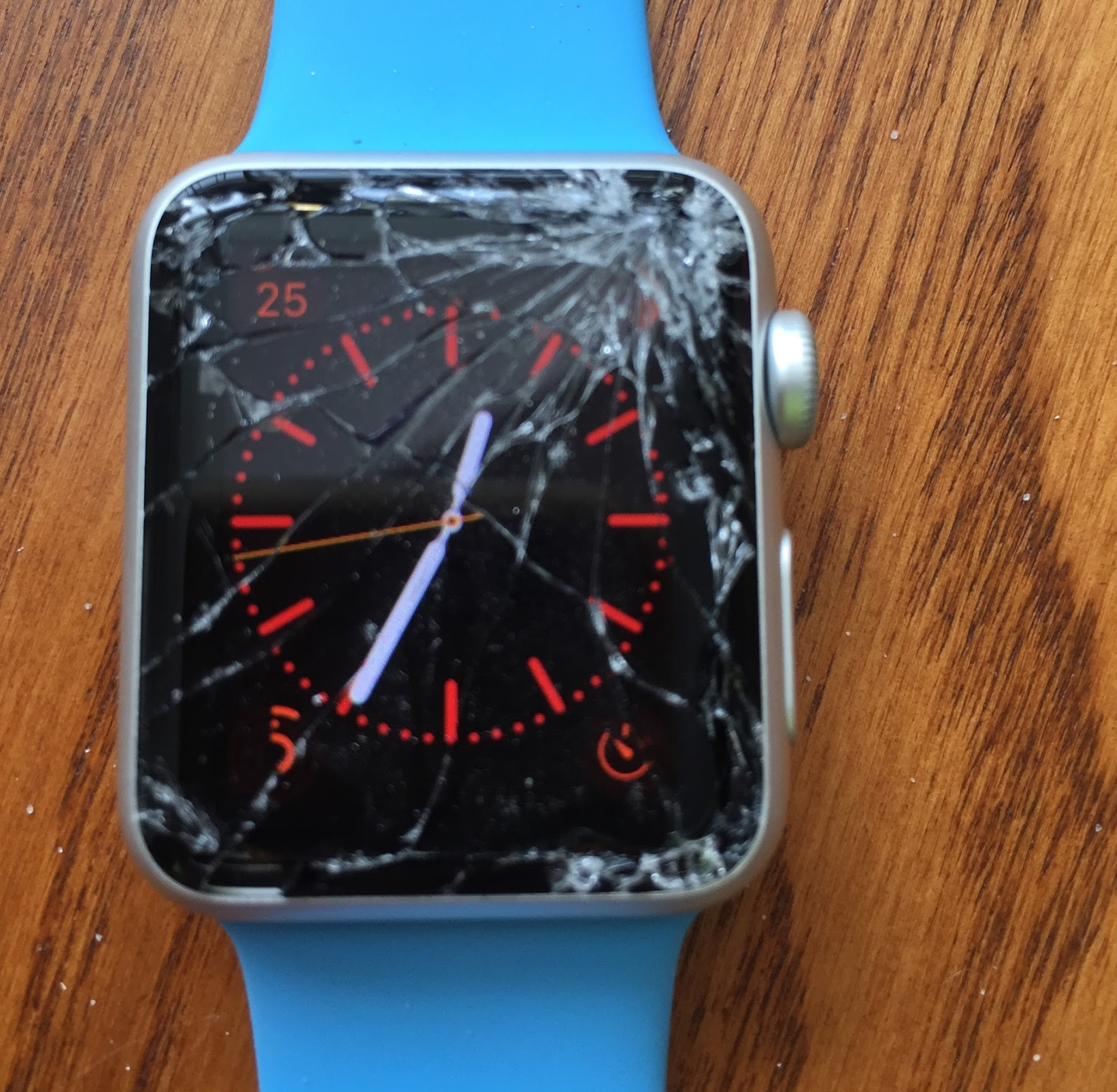Crashed Apple Watch