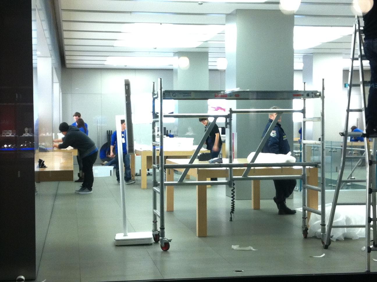 Umbau im Apple Store an der Bahnhofstrasse in Zürich