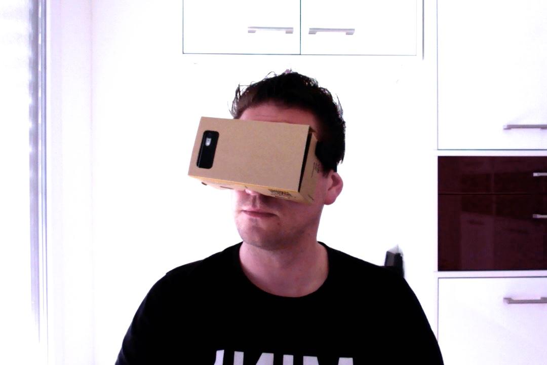 Virtuelle Realität mit VR Cardboard.