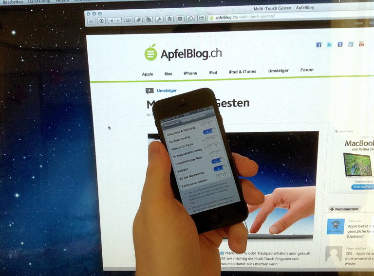 iPhone 5 mit iOS 6 Ortungsdienste