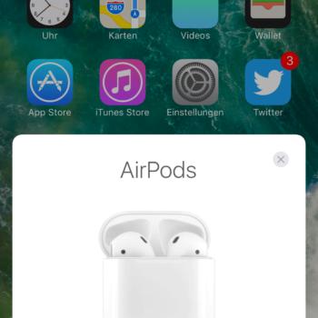 AirPods verbinden mit dem iPhone