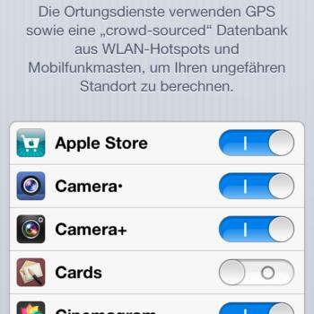 Ortungsdienste iOS 6